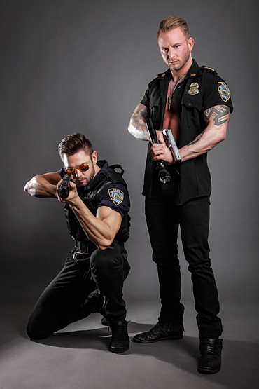 Duo show as police officers