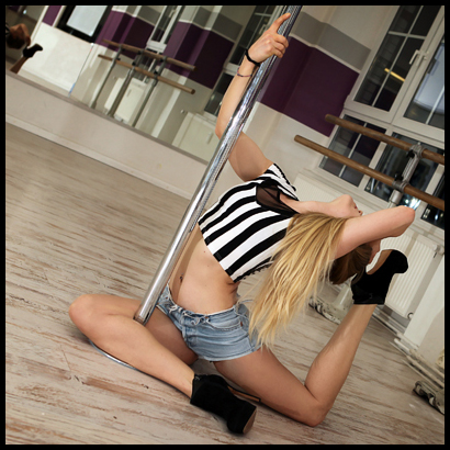 Pole dancing lesson for hen party