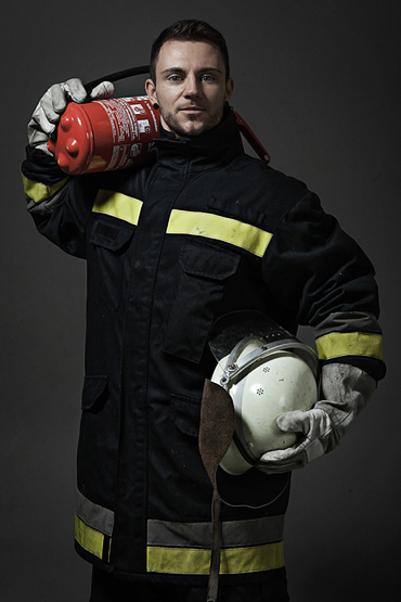 Strip as a firefighter