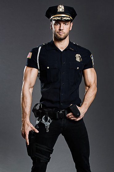 Strip as a police officer
